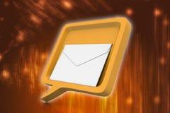 Bolha do discurso com correio Imagens de Stock