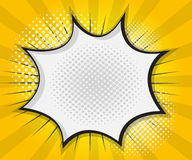 Bolha do discurso da banda desenhada, desenhos animados do pop art Imagem de Stock Royalty Free