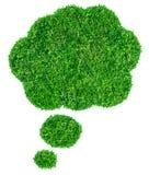 Bolha do discurso da grama verde Fotografia de Stock