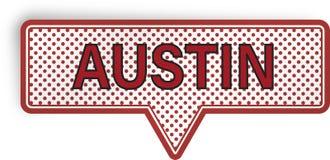 Bolha do discurso de Austin isolada no branco Imagem de Stock