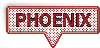 Bolha do discurso de Phoenix isolada no branco Imagens de Stock Royalty Free