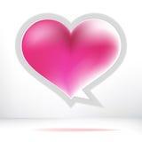 Bolha do discurso do coração. + EPS8 Fotos de Stock Royalty Free