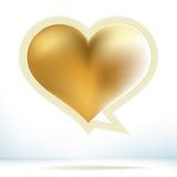 Bolha do discurso do ouro do dia de Valentim. + EPS8 Foto de Stock Royalty Free