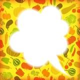 Bolha do discurso dos vegetais Imagem de Stock Royalty Free