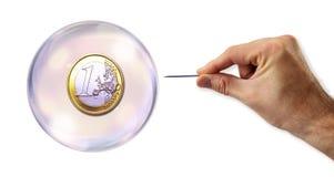 A bolha do Euro aproximadamente a ser explorada Imagem de Stock