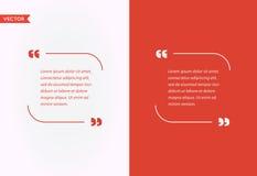 Bolha do molde das citações Grupo das citações do vetor do molde Cores na moda ilustração do vetor