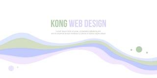 Bolha do Web site do encabeçamento e projeto abstratos da onda Foto de Stock