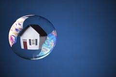 Bolha dos bens imobiliários Foto de Stock Royalty Free