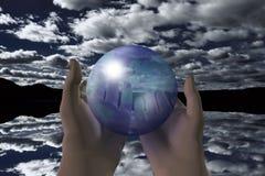 Bolha global imagens de stock