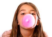 Bolha-Goma cor-de-rosa Fotos de Stock