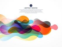 A bolha gosta do projeto gráfico abstrato Imagens de Stock
