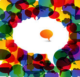 Bolha grande do discurso feita das bolhas pequenas coloridas Imagem de Stock Royalty Free