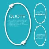 Bolha oval das citações Fotografia de Stock Royalty Free
