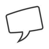 bolha quadrada da conversação ilustração stock