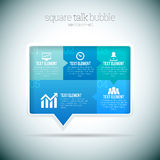 Bolha quadrada Infographic da conversa Imagens de Stock