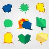 Bolha-texto-polígono Ilustração Stock