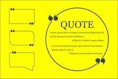 Bolha tirada m?o do discurso no fundo amarelo Lugar para cita??es e texto Ilustra??o do vetor ilustração do vetor