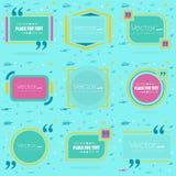 Bolha vazia do texto das citações do quadrado do discurso do conceito abstrato Para a Web e o app móvel no fundo, templat da ilus Fotografia de Stock