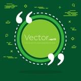 Bolha vazia do texto das citações do quadrado do discurso do vetor abstrato do conceito Para a Web e o app móvel no fundo Fotos de Stock Royalty Free