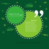 Bolha vazia do texto das citações do quadrado do discurso do vetor abstrato do conceito Para a Web e o app móvel no fundo Imagens de Stock