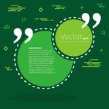 Bolha vazia do texto das citações do quadrado do discurso do vetor abstrato do conceito Para a Web e o app móvel no fundo Foto de Stock Royalty Free