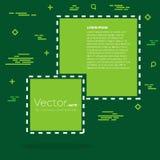 Bolha vazia do texto das citações do quadrado do discurso do vetor abstrato do conceito Para a Web e o app móvel no fundo Imagem de Stock Royalty Free