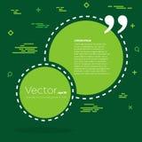 Bolha vazia do texto das citações do quadrado do discurso do vetor abstrato do conceito Para a Web e o app móvel no fundo Foto de Stock