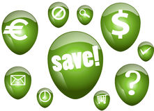 Bolha verde do Aqua Fotografia de Stock Royalty Free