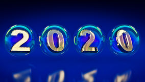 Bolhas 2020 Imagem de Stock Royalty Free