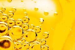 Bolhas abstratas do óleo e da água Fotografia de Stock Royalty Free