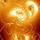 Bolhas abstratas do ouro Imagens de Stock Royalty Free