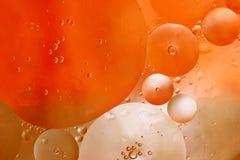 Bolhas alaranjadas Imagem gerada por computador abstrata Foto de Stock Royalty Free
