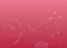 Bolhas & coração ilustração royalty free