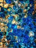 Bolhas azuis e transparentes imagem de stock royalty free