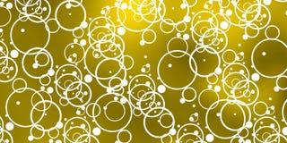 Bolhas brancas sobre o céu amarelado Foto de Stock