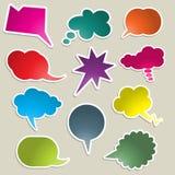 Bolhas brilhantemente coloridas do discurso ilustração stock