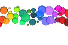 Bolhas coloridas ilustração do vetor