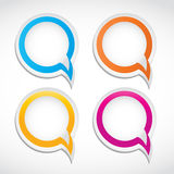 Bolhas coloridas abstratas do diálogo Foto de Stock