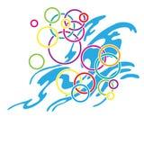 Bolhas coloridas da água Foto de Stock