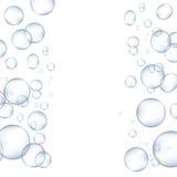 Bolhas da água branca com ilustração ajustada do vetor da reflexão ilustração royalty free