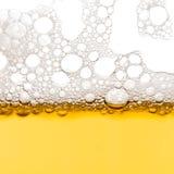 Bolhas da cerveja Fotografia de Stock
