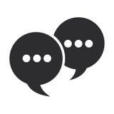 bolhas da conversação com ícone dos pontos ilustração do vetor