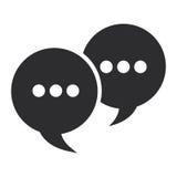 bolhas da conversação com pontos ilustração do vetor