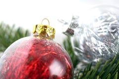 Bolhas da decoração do Natal Fotografia de Stock Royalty Free