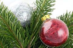 Bolhas da decoração do Natal Fotos de Stock Royalty Free