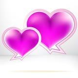 Bolhas dadas forma coração do vetor. + EPS8 Foto de Stock