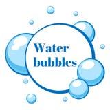 Bolhas de ar azul da água Ilustração do vetor ilustração stock