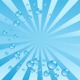 Bolhas de ar na água no fundo brilhante. Vetor Fotos de Stock