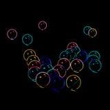 Bolhas de néon borradas sumário Fotos de Stock Royalty Free