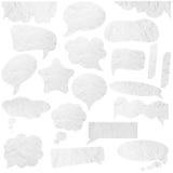 Bolhas de papel do discurso Fotografia de Stock